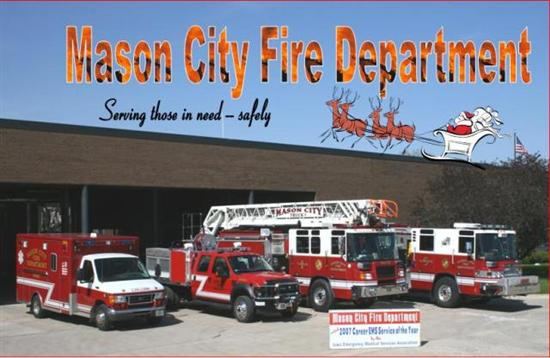 Happy Holidays from the Mason CIty Fire Department!